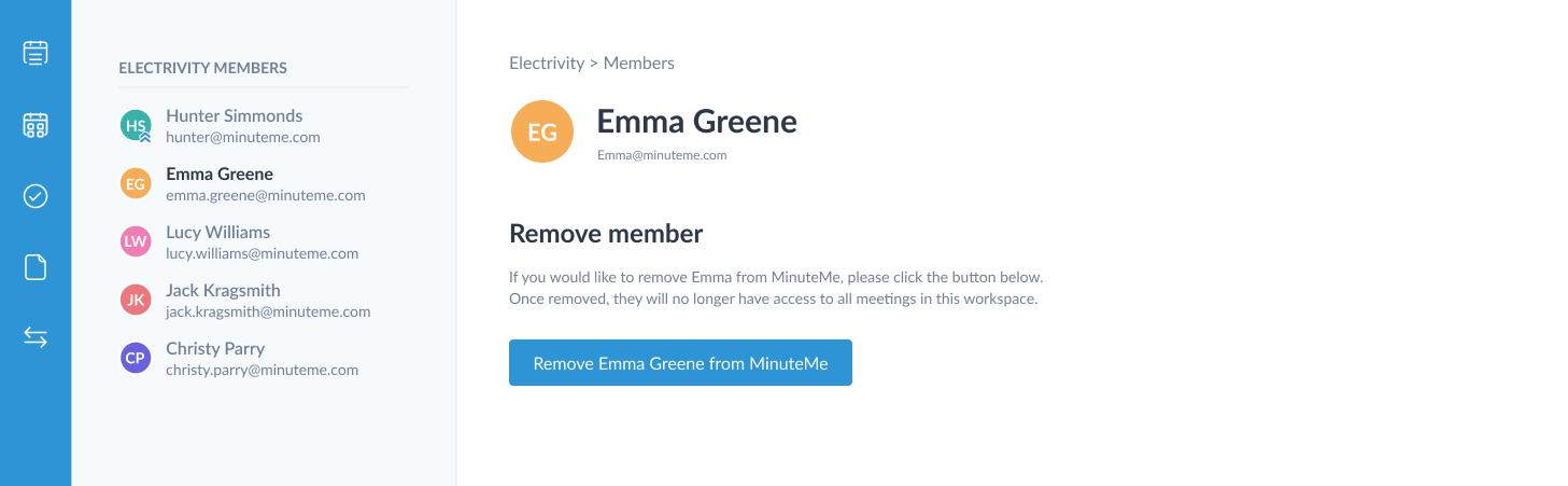 remove workspace member
